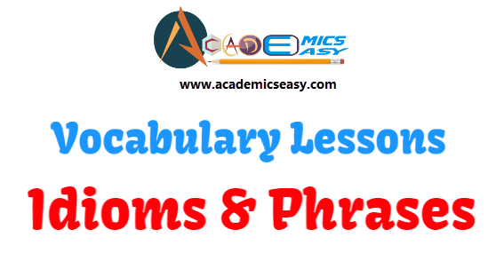 Idioms and Phrases starting with Alphabet- E